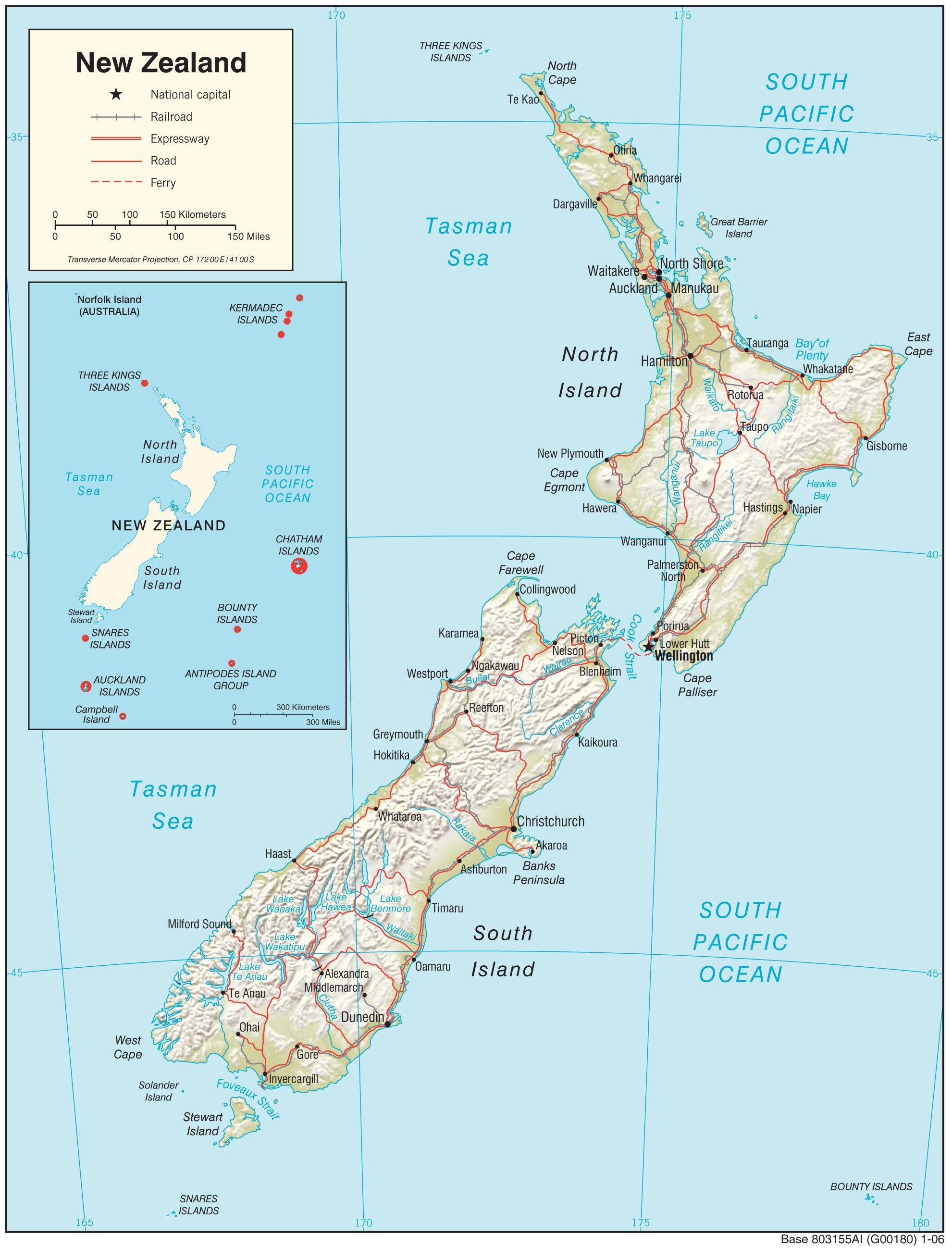 New Zealand Kort New Zealand Kort Hd Australien Og New Zealand