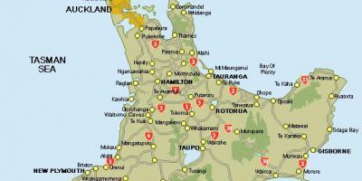New Zealand Kort Kort New Zealand Australien Og New Zealand
